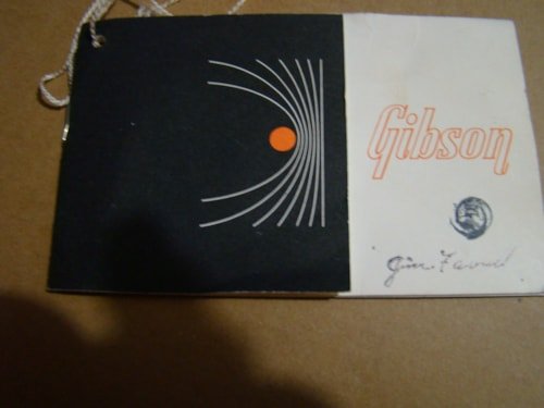 1965 Gibson Hang Tag and Open Warranty