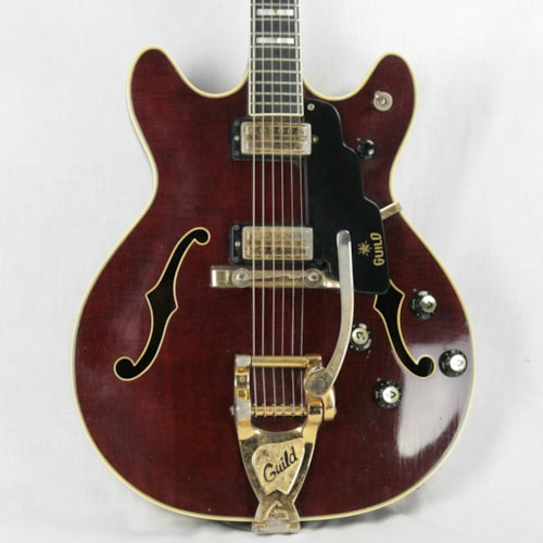 ~1967 Guild Starfire VI w/ Tags! RARE BROWN! SF 6 Made in USA! 1960's Top-of-the-line Model!