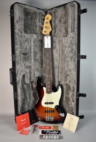 2016 Fender American Professional Jazz Bass Electric Guitar Sunburst w/O