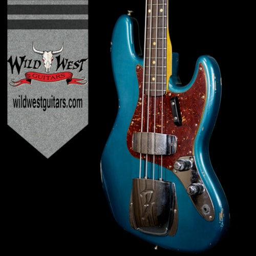 2017 Fender Custom Shop 2017 NAMM Limited Edition 60 Jazz Bass J-Bass Relic Rosewood Fretboard Aged Ocean Turquoise