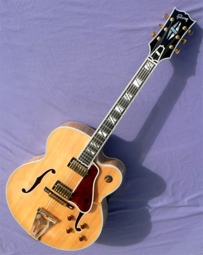 2014 Gibson Super 400CES: Spectacular Flame, Original Tags