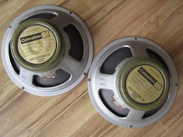 1972 VINTAGE CELESTION G12M T1221 GREENBACK PAIR