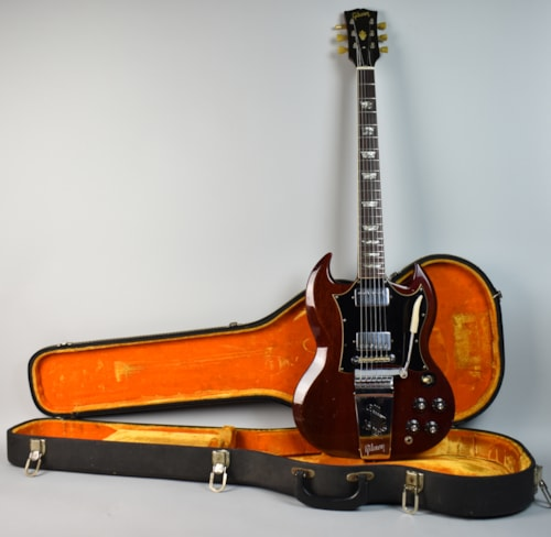 1969 gibson sg standard cherry red guitars electric solid body