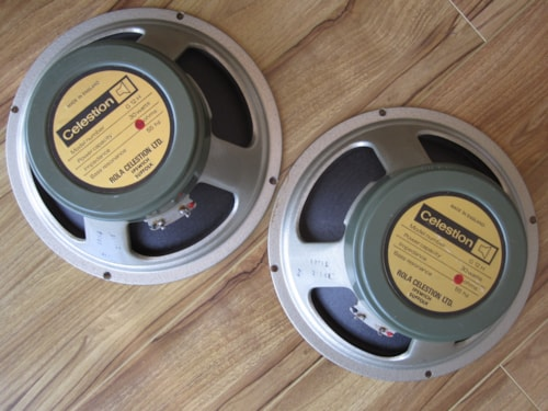 1973 VINTAGE CELESTION G12H T1281 GREENBACK PAIR