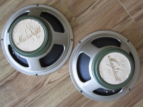 ~1969 VINTAGE CELESTION G12M T1511 GREENBACK PAIR