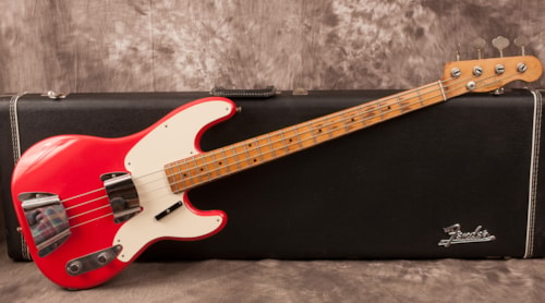 1957 fender precision bass fiesta red guitars electric solid body fiesta finishes. Black Bedroom Furniture Sets. Home Design Ideas