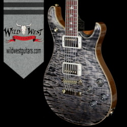 Paul Reed Smith - PRS Paul Reed Smith Wood Library 10 Top Quilt Top McCarty 594 Flame Maple Neck Cocobolo Board Charcoal