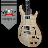 2018 Paul Reed Smith - PRS PRS Wood Library Flame 10 Top Hollowbody I HB1 Piezo Brazilian Rosewood Board Flame Maple Neck Natural