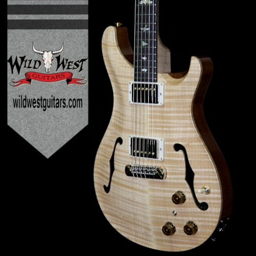 2018 Paul Reed Smith / PRS PRS Wood Library Flame 10 Top Hollowbody I HB1 Piezo Brazilian Rosewood Board Flame Maple Neck Natural