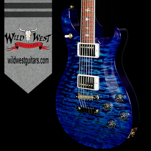 2018 Paul Reed Smith - PRS PRS Wood Library 10 Top 1-Piece Quilt Top McCarty 594 Flame Maple Neck Cocobolo Board River Blue