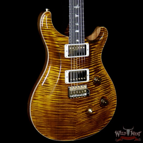 PRS - Paul Reed Smith PRS Wood Library Artist Package Custom 22 Flame Maple Top Fatback African Blackwood Fretboard Black Gold