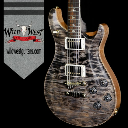 2018 PRS - Paul Reed Smith PRS Wood Libaray Quilt Maple 10 Top McCarty 594 Flame Maple Neck Brazilian Rosewood Board Charcoal