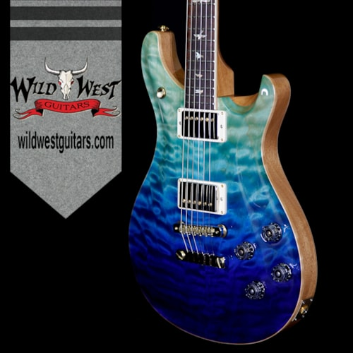 2018 PRS - Paul Reed Smith PRS Wood Libaray Artist Package McCarty 594 Quilt Maple Top Brazilian Rosewood Board Blue Fade