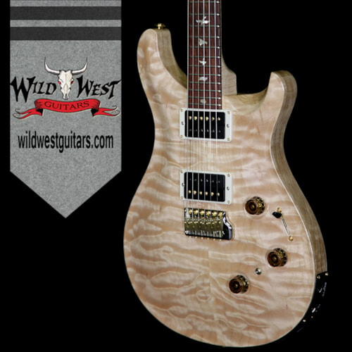 2018 Paul Reed Smith / PRS Paul Reed Smith Wood Library 10 Top Custom 24 Piezo P24 Quilt Top Flame Neck Cocobolo Board Natural