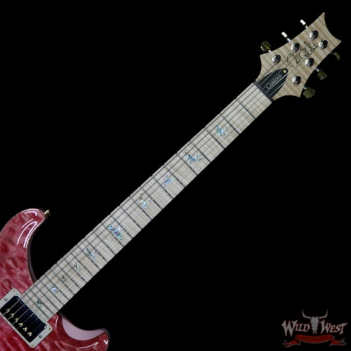 2018 PRS - Paul Reed Smith PRS Wood Library 10 Top Custom 24-08 Quilt Top Flame Neck and Fretboard Bonnie Pink
