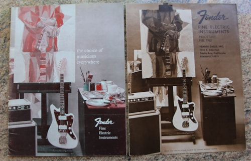 1962 Fender Original Vintage 1962 Catalog & Price List (Not a Reprint)