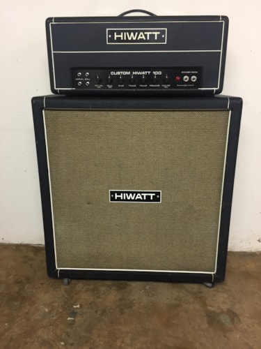 1974 Hiwatt DR103 Custom 100w Hand Wired Head and 4x12 Cab