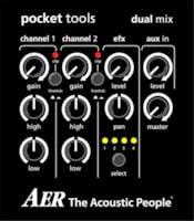 AER Dual Mix 2 Acoustic Guitar Preamp and DI