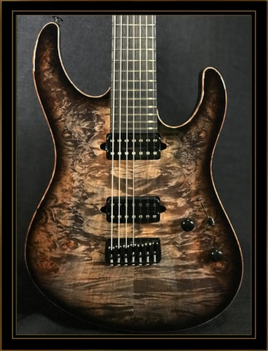 Suhr Modern 7-String with Waterfall Burl Maple Top