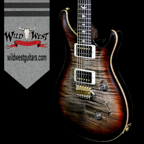 2018 PRS - Paul Reed Smith PRS 2018 Experience 10 Top Custom 24 Flame Top East Indian Rosewood Neck Ebony Board Charcoal Tricolor Burst