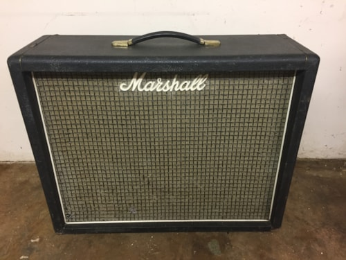 1972 Marshall Model #2045 2x12 Speaker Cab w/ Celestion Rola Greenbacks