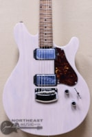 Ernie Ball Music Man Valentine Signature Figured Roasted Maple Neck Electric Guitar in Transparent Buttermilk