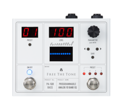 Free the Tone PA-1QB Programmable 10 Band EQ Pedal for Bass Guitar