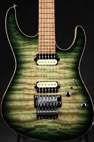 Suhr Modern - Faded Trans Green Burst/5A Roasted Neck