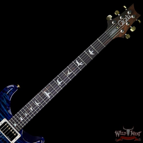 2019 PRS - Paul Reed Smith PRS Wood Library 10 Top Custom 24 Quilt Top Flame Maple Neck Brazilian Rosewood Board Faded Blue Wrapburst