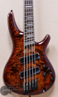 Ibanez SRMS805 5 String Multi Scale Bass in Brown Topaz Burst