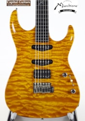 Stephen Marchione Carve Top,  50 Yr Old Mahogany, One Pc. Quilt Maple
