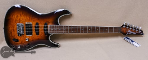 Ibanez SA460 With Quilted Maple Top in Antique Brown Burst