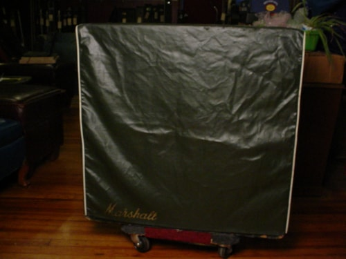 ~1968 Marshall Green Levant Cover For Slant 4X12 Cabinet 1960A