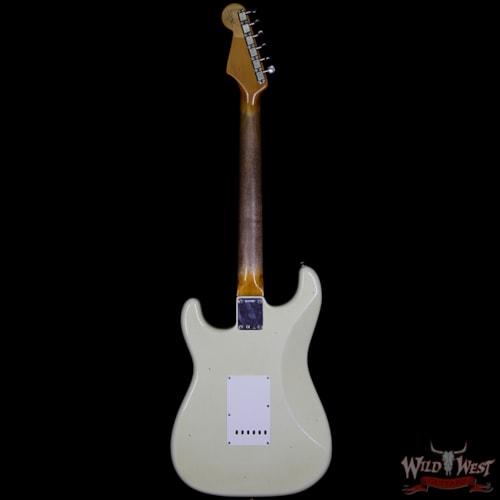 2018 Fender Custom Shop 1963 Stratocaster Journeyman Relic with Dirty Neck Rosewood Board Vintage White