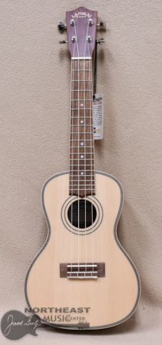 LANIKAI Concert Ukulele with Solid Sitka Spruce Top and Morado Back and Sides
