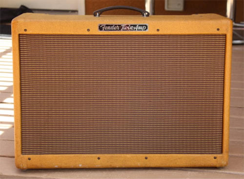 "1958 Fender ""High Powered"" Twin Amp with very cool history!"