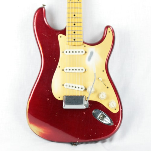 2010 Fender Custom Shop LTD '58 Stratocaster Relic Abigail Ybarra Pups! Candy Apple Red Gold Guard!