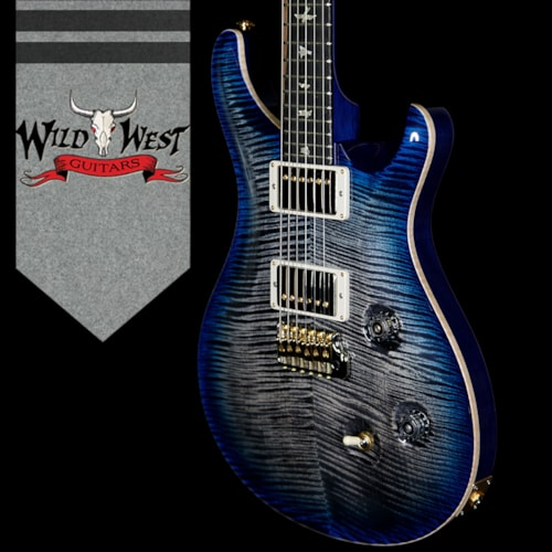 2018 Paul Reed Smith - PRS PRS Wood Library 10 Top Custom 24 Korina Neck with Ebony Board Charcoal Blue Burst