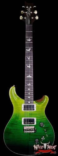 2018 Paul Reed Smith - PRS PRS Wood Library 10 Top Custom 24-08 Flame Maple Top Cocobolo Fingerboard Green Fade