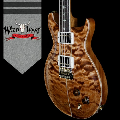 2018 PRS Wood Library Santana Retro Quilt 10 Top Flame Mahogany Neck Brazilian Rosewood Board Copperhead