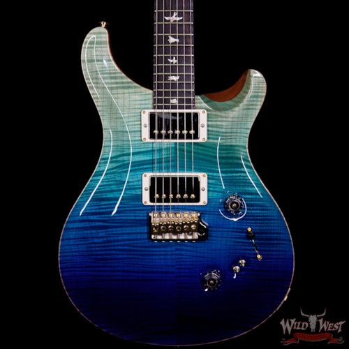 2018 Paul Reed Smith - PRS PRS Wood Library 10 Top Custom 24-08 Brazilian Rosewood Fingerboard Blue Fade