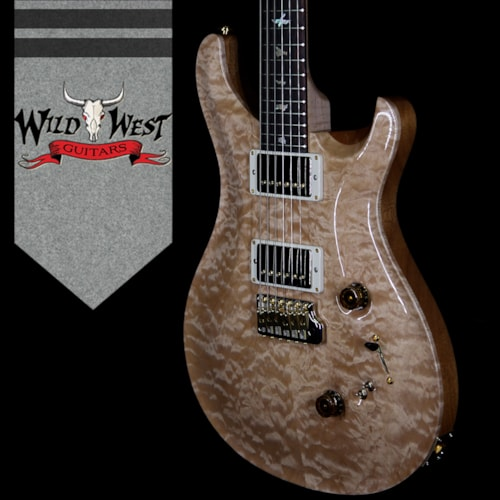 2018 PRS 2018 PRS Wood Library Quilted 10 Top Custom 24/08 Flame Maple Neck Brazilian Rosewood Fretboard Natural