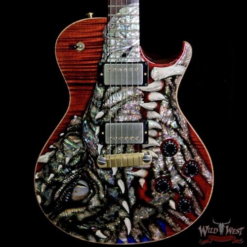2002 Paul Reed Smith - PRS Paul Reed Smith PRS Singlecut Dragon 2002 #23 Brazilian Rosewood Neck and Board Black Cherry
