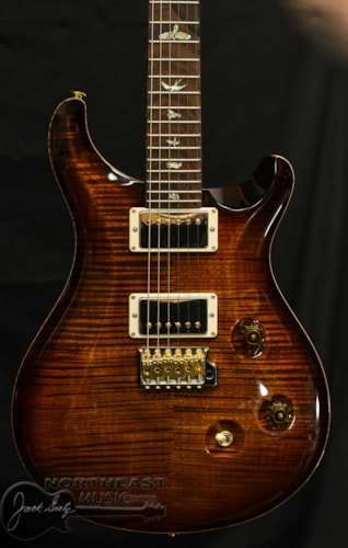 PAUL REED SMITH PRS Wood Library Custom 24 Fatback - Black Gold 10 Top