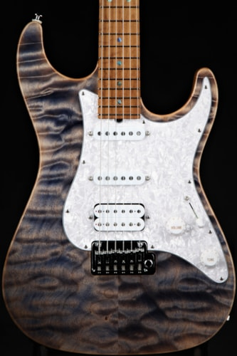 Suhr Standard - Trans Blue Denim Slate/5A Roasted Birdseye Maple