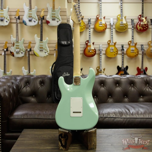 2018 Suhr Classic S (Classic Pro) HSS Quartersawn Maple Neck Rosewood Fingerboard Surf Green