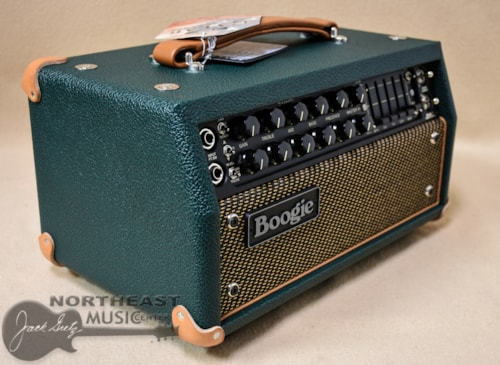 Mesa Boogie Mark V 25 Amplifier Head in Emerald Bronco with Gold Jute & Tan Leather Corners