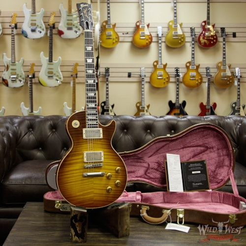 2018 Gibson Custom Shop Historic 1959 Les Paul R9 VOS Hand Selected Killer Top Brazilian Rosewood Board Royal Teaburst 9.0 LBS