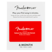 Fender Play Online Lesson Subscription Card, 6 Months Pre-Paid