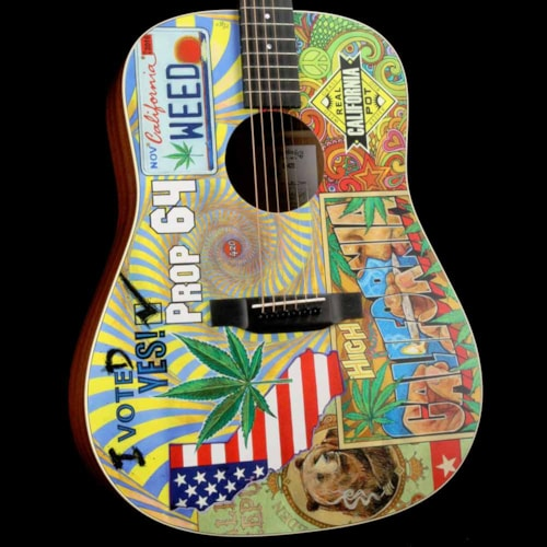 Martin D-420 Acoustic with Graphic by Robert Goetzl